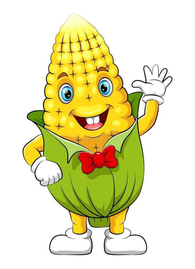 Personagem de banda desenhada engraçado do milho ilustração stock
