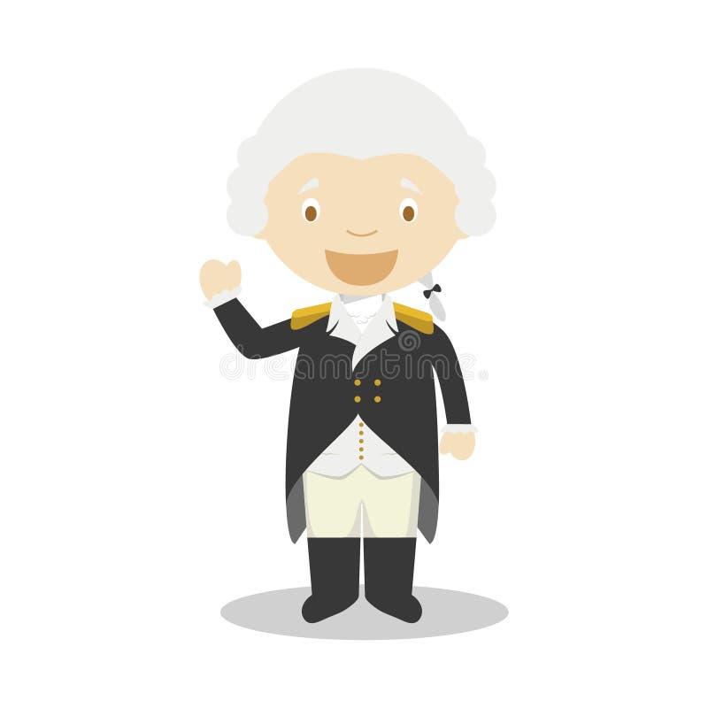 Personagem de banda desenhada de George Washington Ilustração do vetor ilustração royalty free