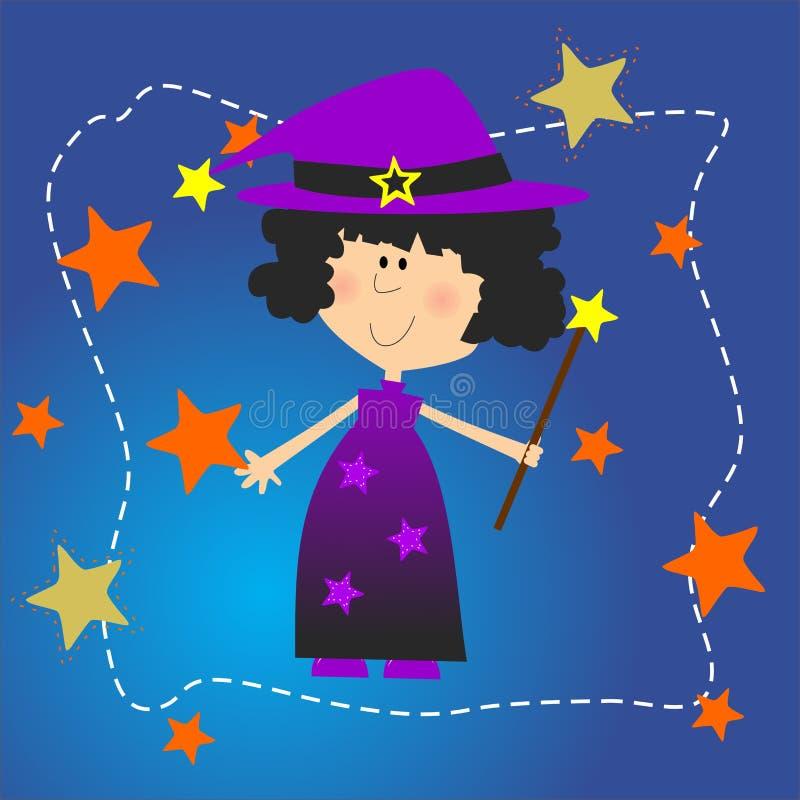 Personagem macio do Dia das Bruxas da bruxa imagem de stock