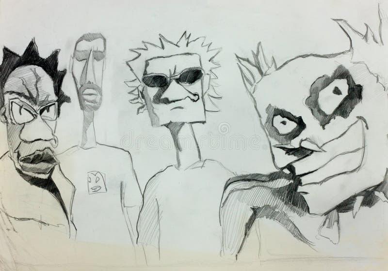 Download Personagens De Banda Desenhada Ilustração Stock - Ilustração de arte, cartoon: 26511704