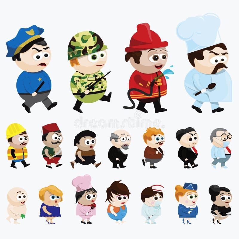 Personagens De Banda Desenhada Fotos de Stock Royalty Free