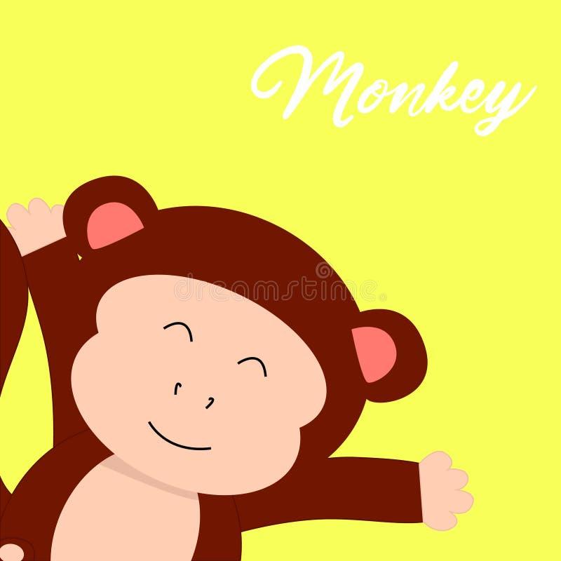 personagens de banda desenhada bonitos dos gráficos do t-shirt do macaco ilustração royalty free