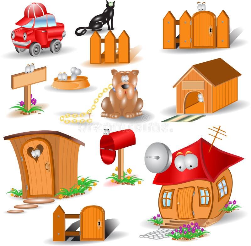 Download Personagens De Banda Desenhada Lustrosos Dos ícones Ilustração do Vetor - Ilustração de gato, correio: 12801436
