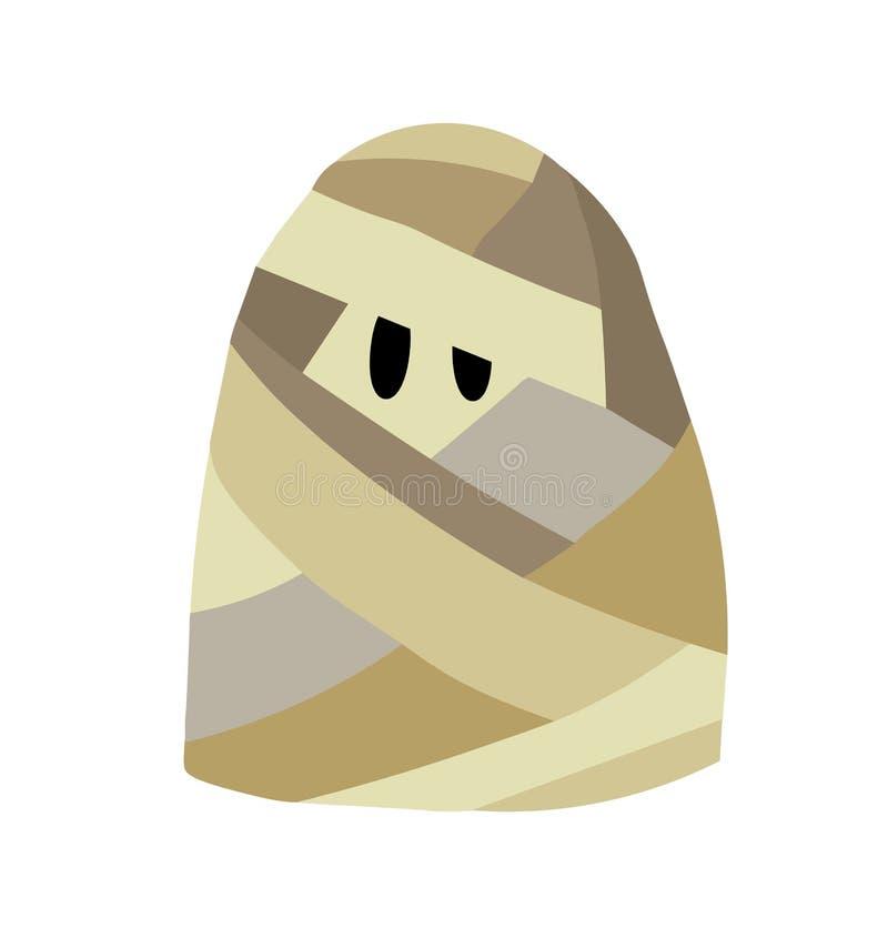Personagens de banda desenhada para Dia das Bruxas, traje da mamã do desgaste, ilustração do vetor ilustração do vetor