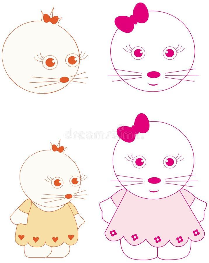 personaggi dei cartoni animati royalty illustrazione gratis