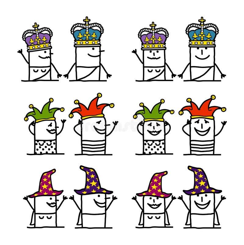 Personaggi dei cartoni animati messi - fantasia e medio evo royalty illustrazione gratis