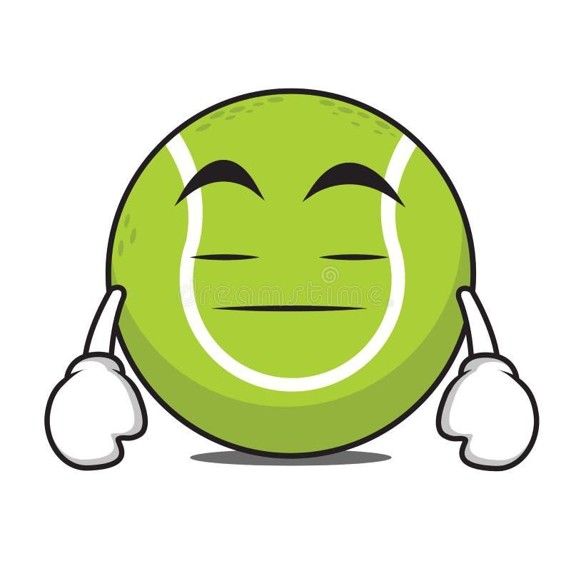 Personaggio dei cartoni animati annoiato della pallina da tennis illustrazione di stock