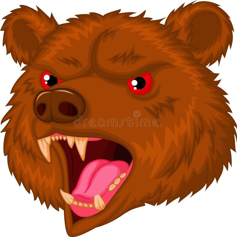 Personaggio dei cartoni animati capo della mascotte dell'orso royalty illustrazione gratis