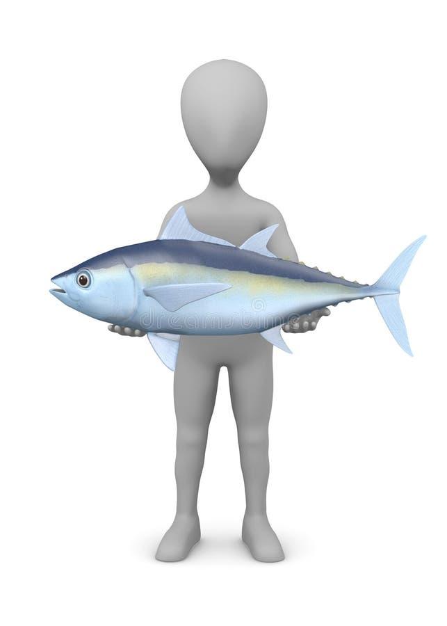 Personaggio dei cartoni animati con i tonnidi (cattura piacevole) illustrazione di stock