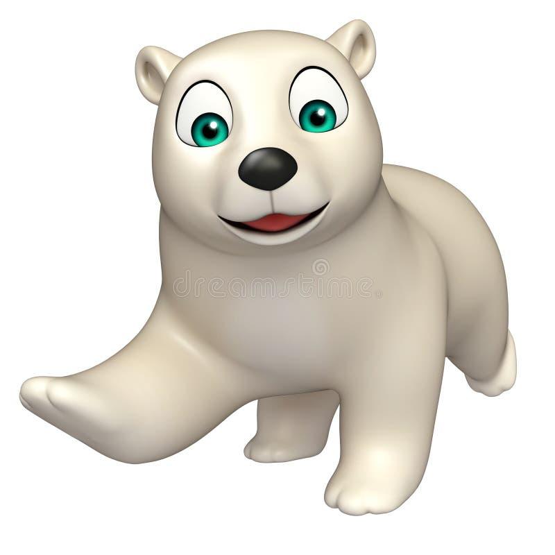 Personaggio dei cartoni animati corrente dell orso polare
