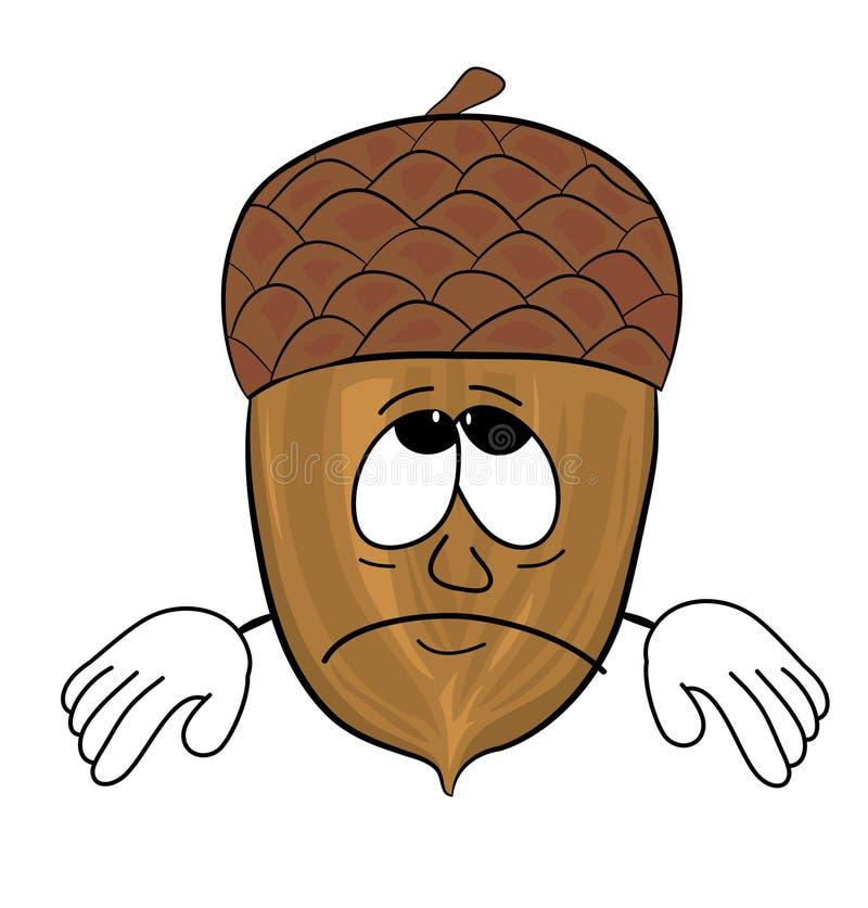 Personaggio dei cartoni animati del cono dell'albero immagini stock libere da diritti