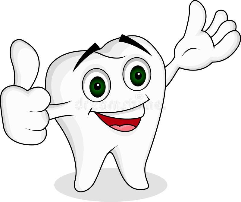 Personaggio dei cartoni animati del dente illustrazione vettoriale