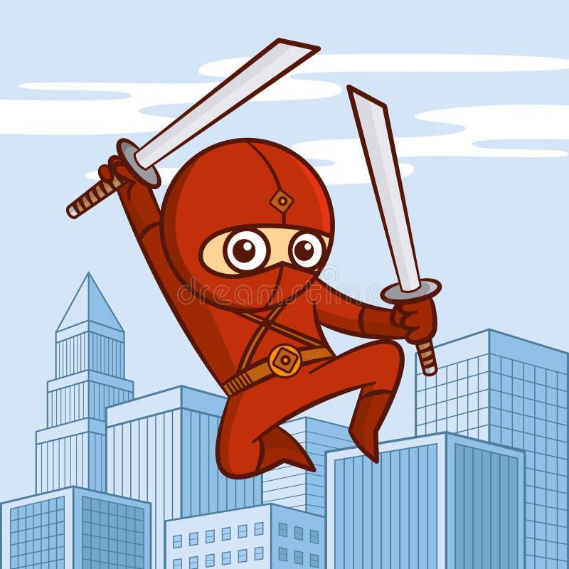 Personaggio dei cartoni animati del supereroe illustrazione vettoriale