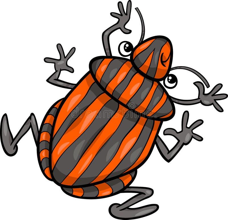 Personaggio dei cartoni animati dell'insetto dell'insetto dello schermo royalty illustrazione gratis