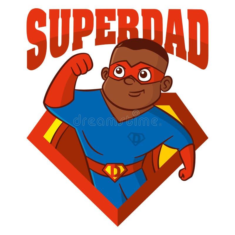 Personaggio dei cartoni animati dell'uomo del supereroe illustrazione vettoriale