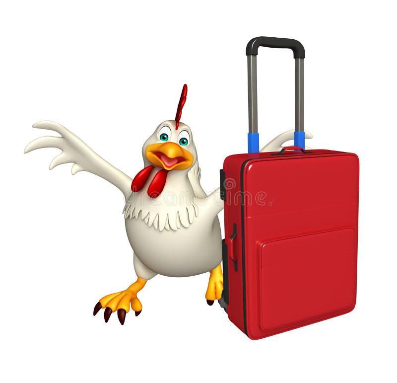 Personaggio dei cartoni animati della gallina di