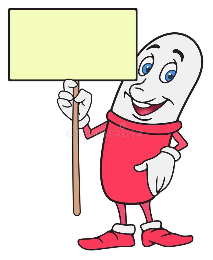 Personaggio dei cartoni animati della pillola immagine stock libera da diritti