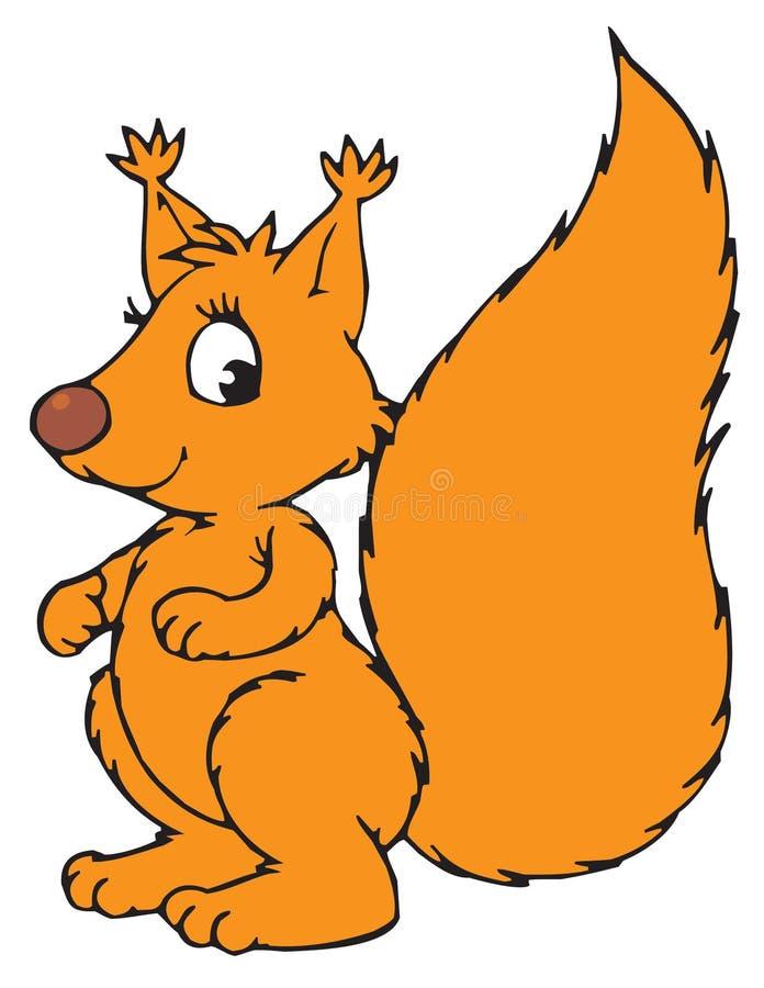 Personaggio dei cartoni animati dello scoiattolo royalty illustrazione gratis