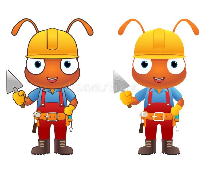 Personaggio dei cartoni animati di Ant Engineer illustrazione vettoriale