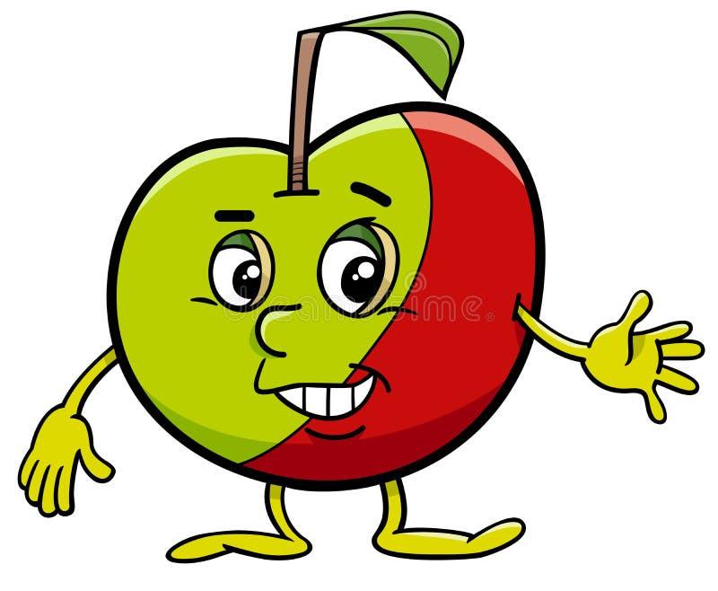 Personaggio dei cartoni animati di Apple royalty illustrazione gratis