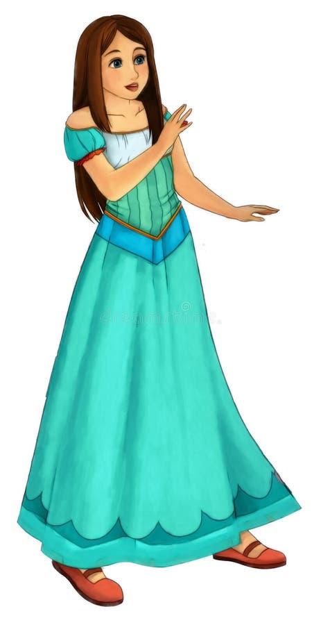 Personaggio dei cartoni animati di favola - illustrazione per i bambini illustrazione vettoriale