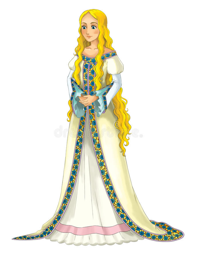 Personaggio dei cartoni animati di favola - principessa royalty illustrazione gratis
