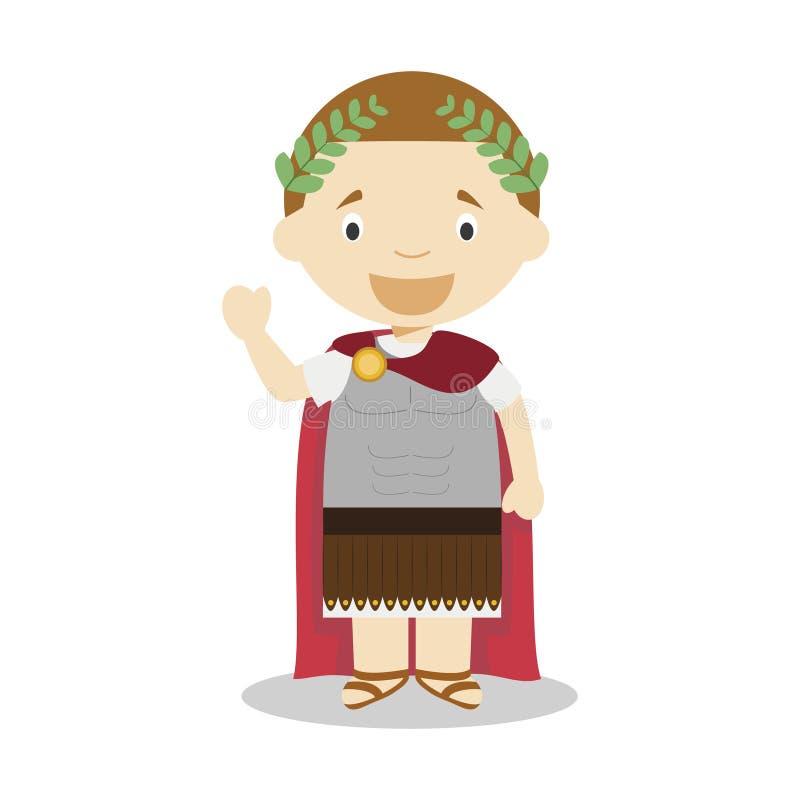 Personaggio dei cartoni animati di Julius Caesar Illustrazione di vettore royalty illustrazione gratis