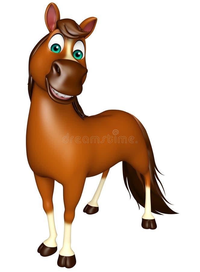 Personaggio dei cartoni animati divertente del cavallo