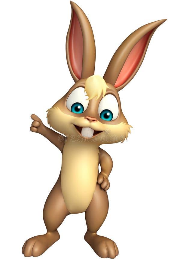 Personaggio dei cartoni animati divertente del coniglietto sveglio royalty illustrazione gratis