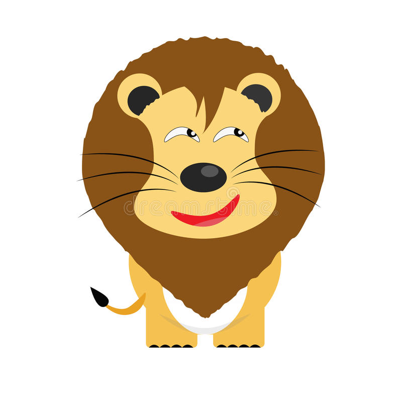 Personaggio dei cartoni animati ingannevole del leone royalty illustrazione gratis