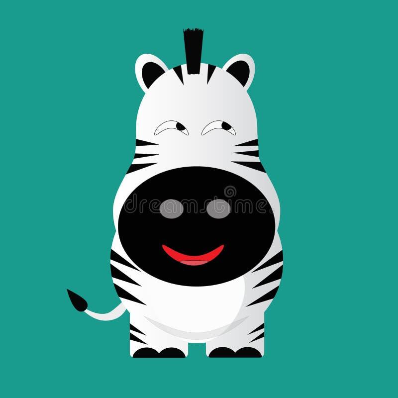 Personaggio dei cartoni animati ingannevole della zebra illustrazione di stock