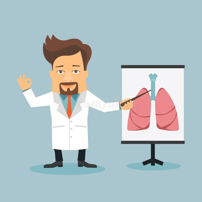 Personaggio dei cartoni animati piano del terapista amichevole di medico royalty illustrazione gratis