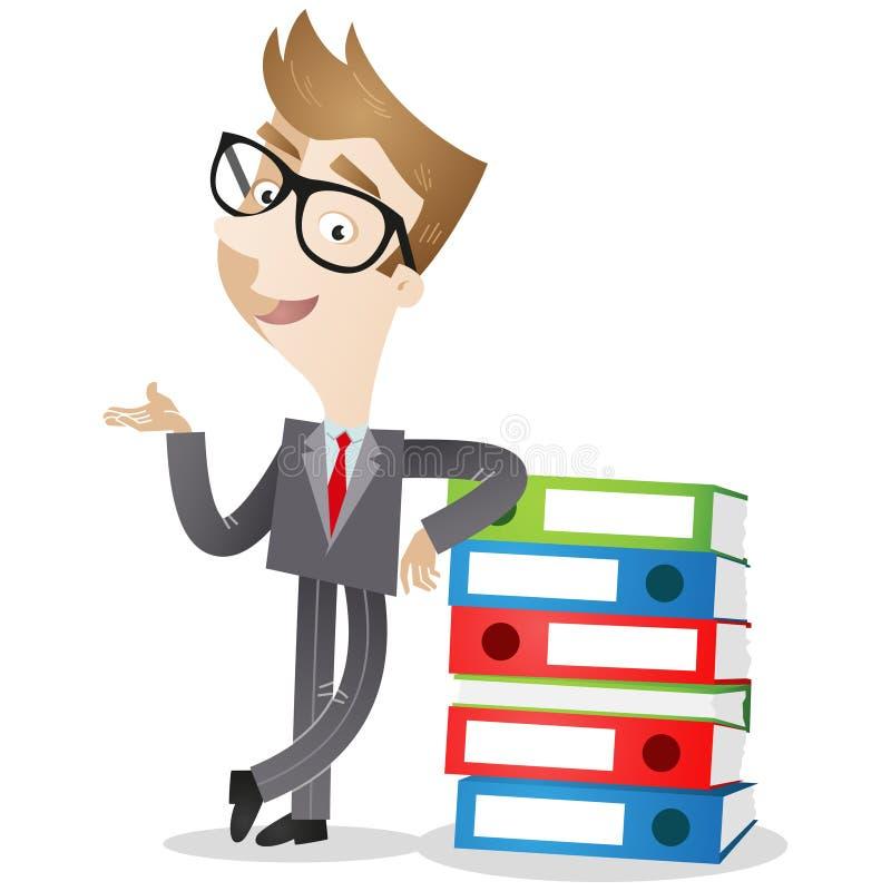 Personaggio dei cartoni animati: Raccoglitori dell'uomo d'affari illustrazione vettoriale