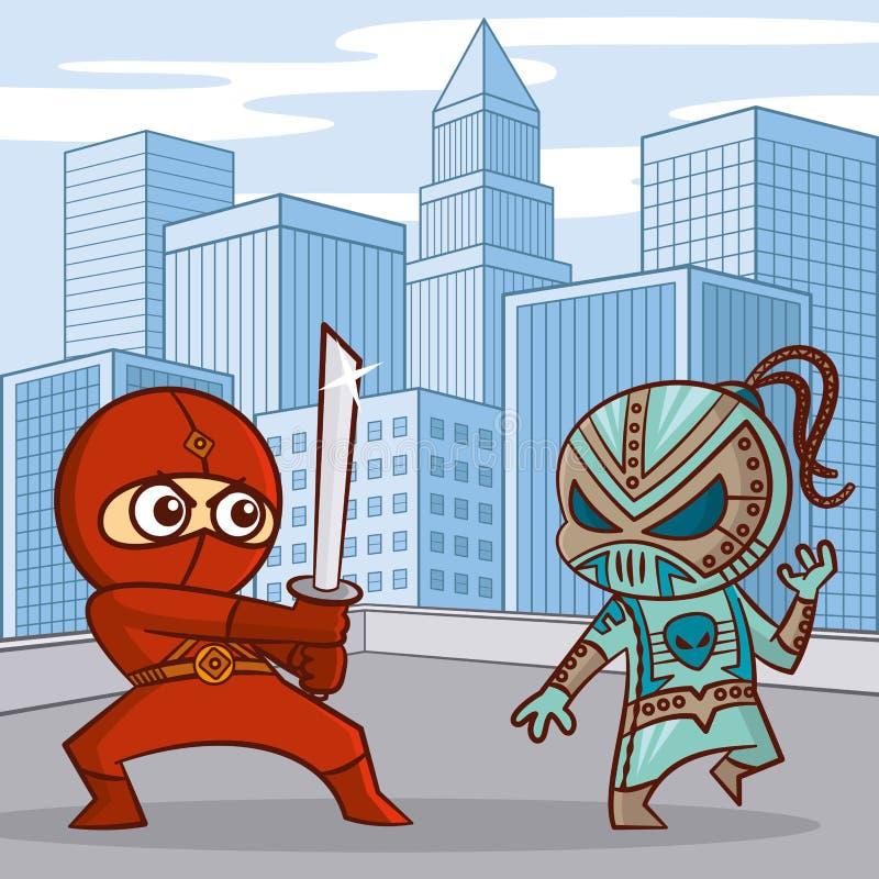 Personaggio dei cartoni animati dei supereroi illustrazione di stock