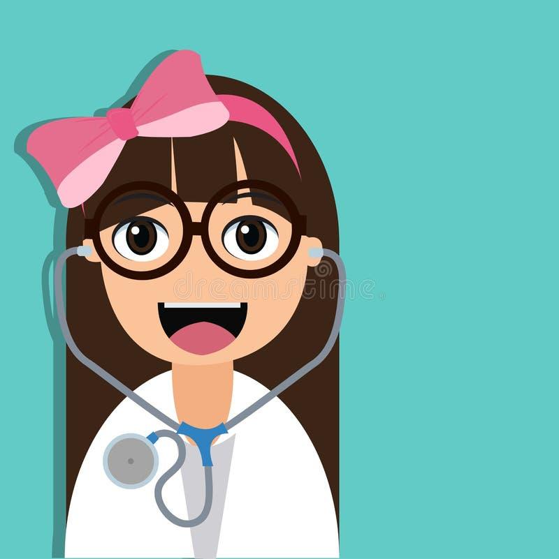 Personaggio dei cartoni animati sveglio di medico royalty illustrazione gratis