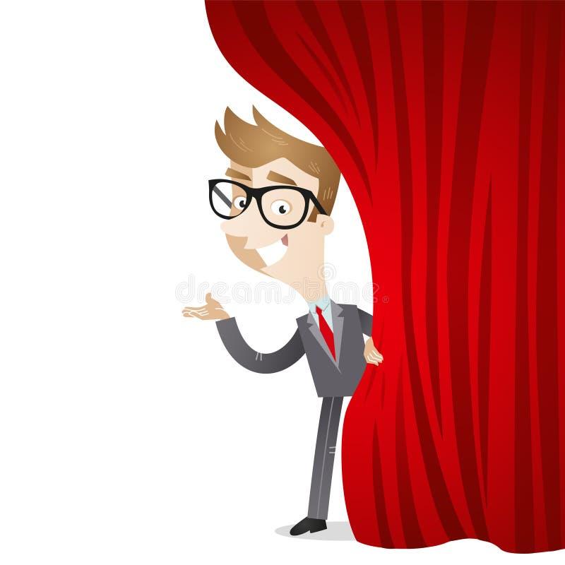 Personaggio dei cartoni animati: Tenda dell'uomo d'affari illustrazione vettoriale
