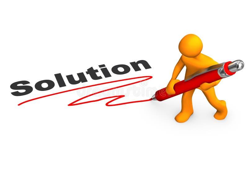 Maniquí Ballpen de la solución stock de ilustración