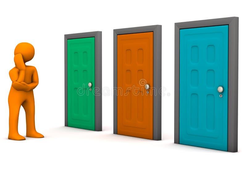 Opci n de las puertas stock de ilustraci n ilustraci n de - Dibujos de puertas ...