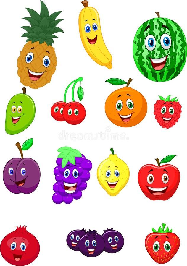 Personaje de dibujos animados de la fruta ilustración del vector