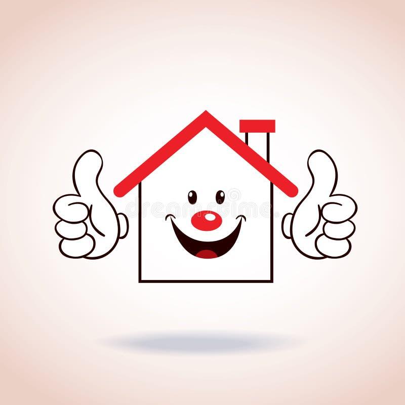 Personaje de dibujos animados de la mascota del s mbolo de la casa ilustraci n del vector - La casa de la mascota ...