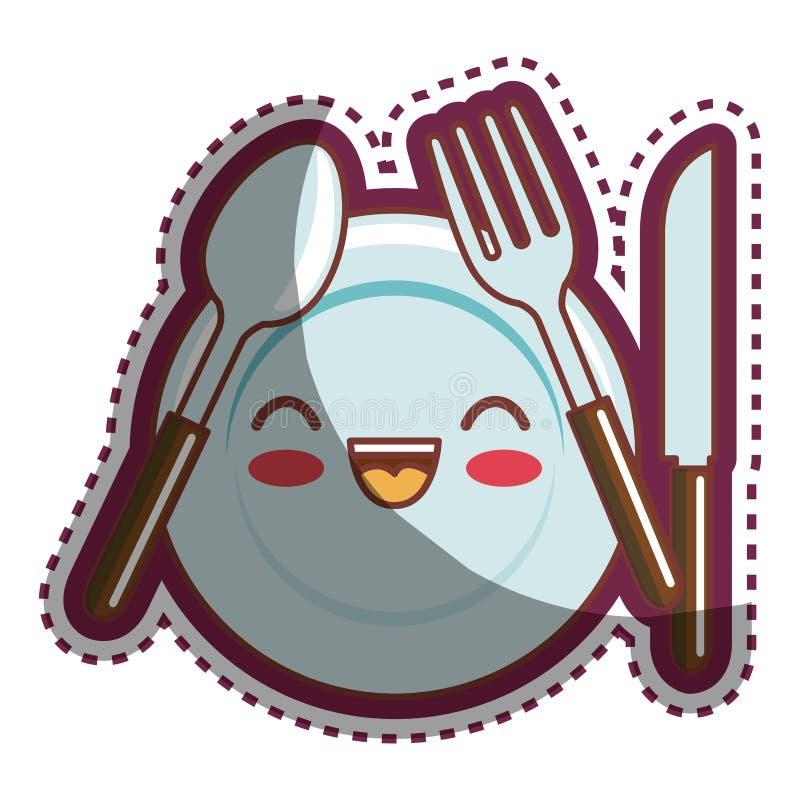 Personaje de dibujos animados de los utensilios de la for Dibujos de cocina