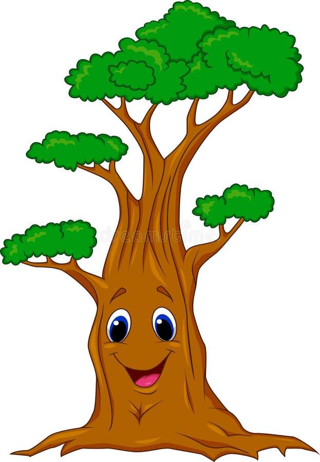 Personaje de dibujos animados del árbol ilustración