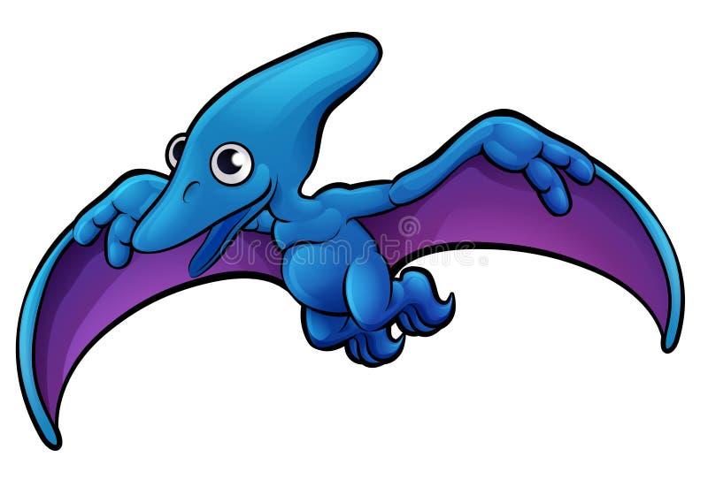 Personaje de dibujos animados del dinosaurio del pterodáctilo ilustración del vector