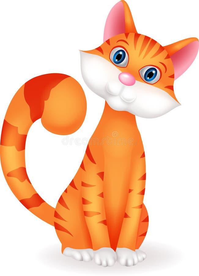 Personaje de dibujos animados del gato libre illustration