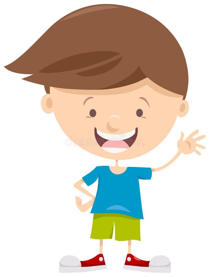Personaje de dibujos animados del ni o peque o ilustraci n - Foto nino pequeno ...