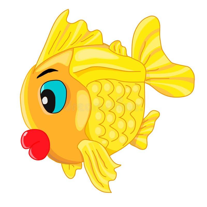 personaje de dibujos animados feliz del pez de colores