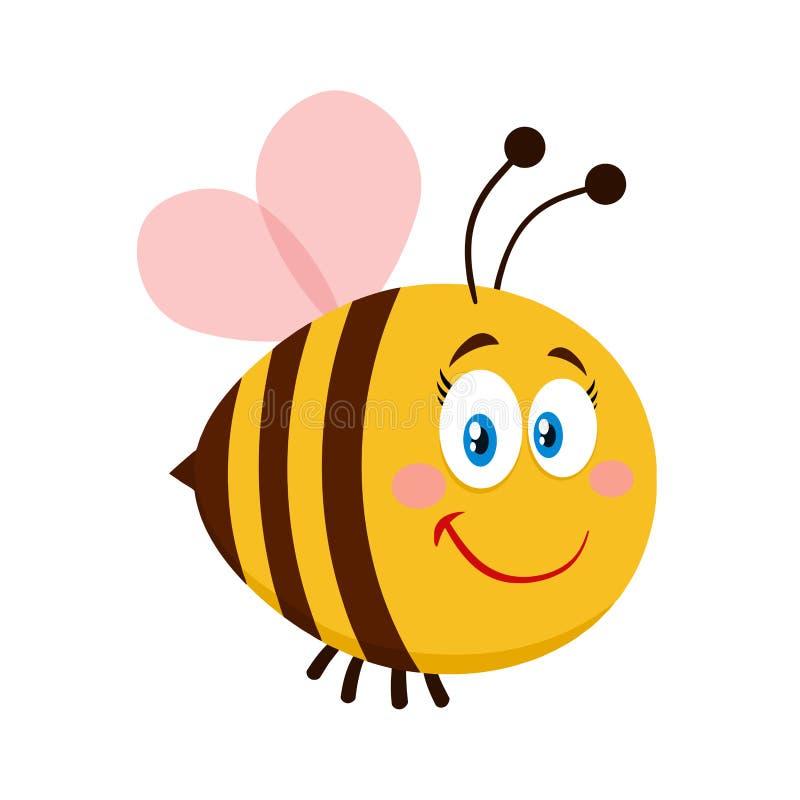 Personaje de dibujos animados femenino lindo de la abeja imagen de archivo
