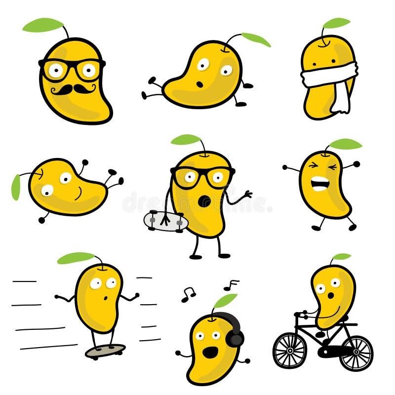 Personaje de dibujos animados lindo 01 del vector del mango imagen de archivo libre de regalías