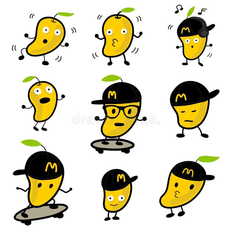 Personaje de dibujos animados lindo 02 del vector del mango imagen de archivo