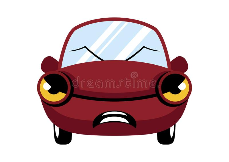 Personaje de dibujos animados rojo enojado del coche libre illustration